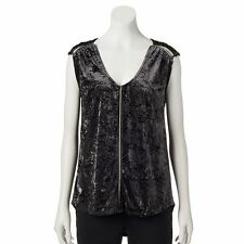 Rock & Republic Glitter Drop-Tail Hem Top Asst Sizes (New W/Tags)(Retail $44.00)
