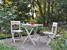 Outdoor 3 Piece Table 2 Chairs Bistro Set  Patio Dining Resin Folding Furniture