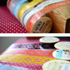 2Pcs Korea Stickers DIY Diary Decorative Stickers Lace Tape Lace Sticker Tape