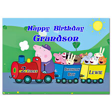 684; Special Personalised Birthday card; Peppa pig train too too; Any age, name