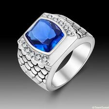 Charm Friendship Gift Jewelry Sapphire Quartz S80 Silver Ring size 789