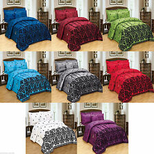 LUXURY 5PIECE BED IN BAG DUVET SET, BED RUNNER, CUSHION FLOCK DOUBLE & KING SIZE