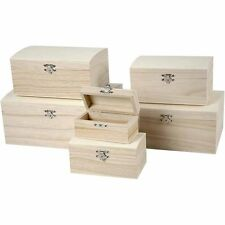 Wooden treasure chest - 6 sizes to pick from box storage memory keepsake tooth
