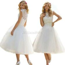 Women's Elegant White Wedding Dresses Bridal Gown Lace Wedding Bridal Dress  A88