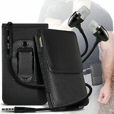 Belt Clip Leather Phone Pouch Holster Magnetic Flip Case Cover Holder