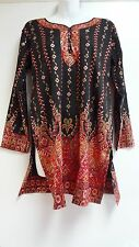 Women's Kurta Tunic Top Trendy and Comfortable Indian Printed Top Many Sizes