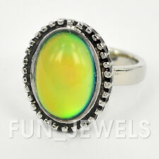 Beautiful Vintage Oval Mood Ring Multi Colored Change Free Color Chart