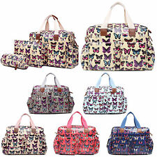 4pc Butterfly Mummy Nappy Diaper Baby Changing Maternity Bag Set Wipe Clean