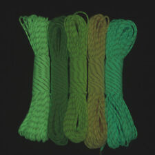 100FT 9 Strand Luminous Glow in the Dark & Reflective Paracord Parachute Cord