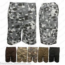 Boys Camouflage Print Summer Cargo Casual, Beach Shorts Pocket Pants Plus Size