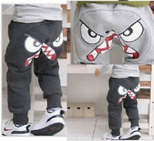 Boys Pants Trousers Cartoon Leggings Clothes 3-7Y Light Gray Black New Coming