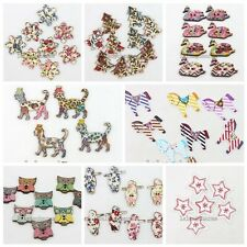 50/250pcs New Stylish Charms Wood Buttons Decor Fit Handcrafts Embellishment - N