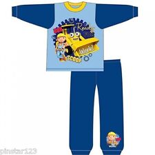 BOYS BOB THE BUILDER  PJS PYJAMAS READY FOR WORK FULL LENGTH  ALL SIZES
