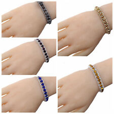 Gold/Silver Plated Bracelet Bangle Chain Crystal Rhinestone Fashion