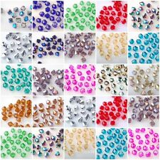 Wholesale Lots 100-1000Pcs Glass Crystal Faceted Bicone Beads 4mm Loose Spacer