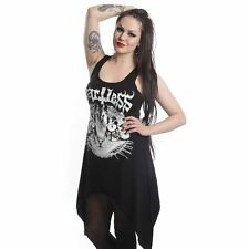 Heartless Evil Cat Dress Ladies Black Goth Emo Punk Girls