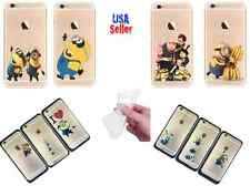 New Cute Despicable Me Minions Ultra Thin Slim Clear SOFT case For iPhone 6 4,7""