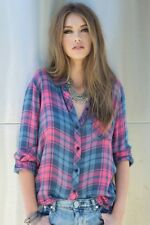 $137 Rails hunter button down plaid shirt in berry Sz XS S M