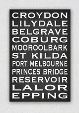 Personalised Word Canvas 50x75cm Add Your Custom Text 11-12 lines bus roll print