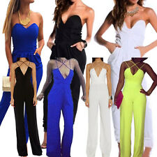 Women Jumpsuit Slim Sexy Clubwear Romper Jumpsuit Dress Party V Neck Jumpsuit