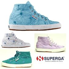 SUPERGA SCARPE SNEAKERS SHOES ALTA DONNA RAGAZZA RICAMATA 2095 EMBROIDED FABRICW
