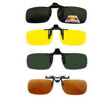 Colors Clip On Polarized Sunglasses Flip Up for Fishing Boating Hunting Driving
