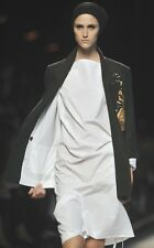 DRIES VAN NOTEN White Sheer Cotton Deconstructed Dress 36 or 40  M  L