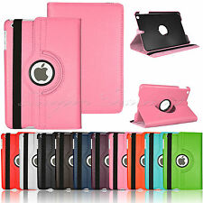 360 Rotating Smart Leather Case Swivel Stand Skin Cover For iPad Mini 2 3 Retina