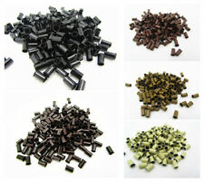 1000pcs Copper Tube Beads Micro Link Rings Lined for Hair Extensions US Seller