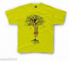 Trumpet T-shirt Musical Tree in Kids sizes 1-2yr up to 11yr-12yr