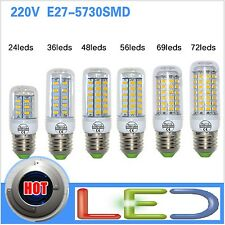 led E27 lampadina 220v SMD5730 lamp light corn bulb 7w 12w 15w 18w 20w 25w 72led