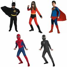 Kids Boy Girl Batman Spiderman Incredibles Fancy Party Costume Gift Set 2-8T