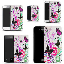 Case Cover for most popular mobile phones - Pink Swirl butterfly Design