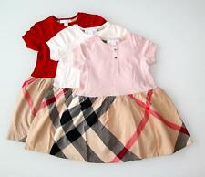 NEW Authentic BURBERRY Check Dress Girls Size 6 9 12 18 Months 2 , 3 Years