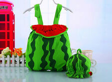 Baby Toddler Boys&Girls Outfit  Cute Watermelon Romper Wid Hat 6-30 months