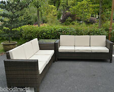 Rattan Garden Furniture Set Sofa Conservatory Outdoor Wicker Patio Weave