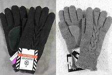 NWT Isotoner Womens Cable Knit Winter Gloves with Soft Microluxe Lining - colors