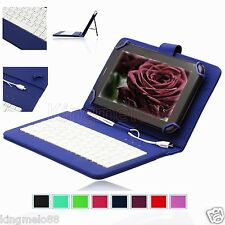 "Micro-USB Keyboard Leather Case For 7"" Hisense Sero 7 Pro LT Android Tablet HW"