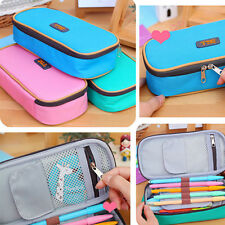 Student Stationery Canvas Pen Bag Pencil Case Home Travel Makeup Cosmetic Bag