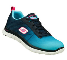 Womens Skechers Flex Appeal New Arrival Trainer 11882. Blue/Navy. Sizes 3-8
