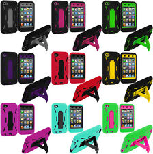 Armor Layer Tough Shock Proof Heavy Duty Case for IPOD TOUCH 4 4TH GEN w/Stand