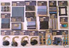 Papermania Denim embellishments stickers ribbons tags tassels buttons pegs brads