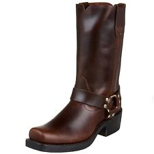 Durango Mens Tall Motorcycle Harness Boots Pull Up Rubbed Brown Leather DB514 EE