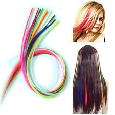 12pcs Multicolor Grizzly Feather Hair Extensions Rooster With 12pcs Beads Free