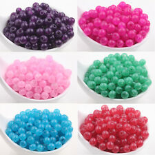 Hot Sale 50/200Pcs Charms Glass Jade Jelly Round Loose Spacer Beads Finding 6 MM