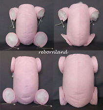 """REBORN BODY - DOE SUEDE - IN MULTIPLE VARIATIONS - BABY PINK COLOUR - 10"""" to 22"""""""