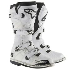 Alpinestars NEW 2016 Mx Tech 8 RS Adult Offoad Dirt Bike White Motocross Boots