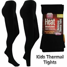 Girls Thermal Thick Winter Black Warm Stretchy Children Footless Foot Tights