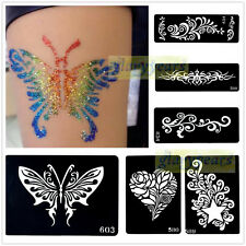 1pc India Henna Temporary Tattoo Stencils Template for Body Art Decal DIY Flower