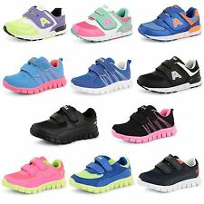 Boys Girls Sports Running Trainers Skate Boots Casual Velcro School Shoes Size